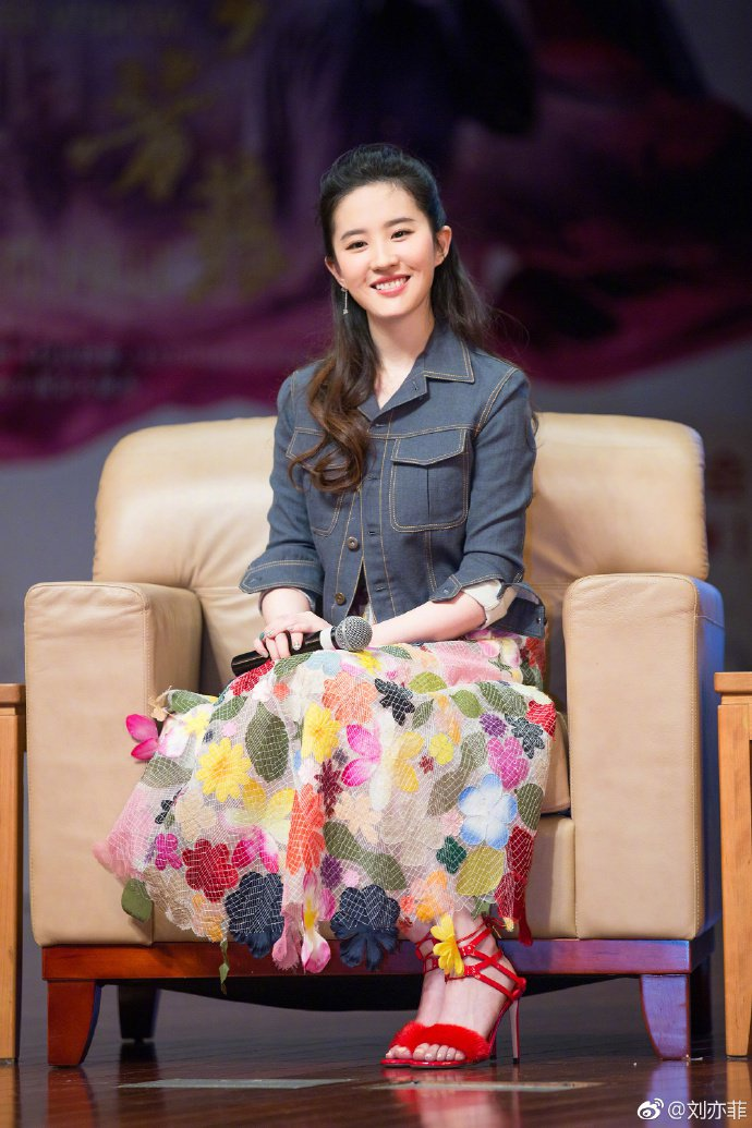 迪士尼真人版花木蘭選角公布,大陸女星劉亦菲中選。圖/摘自微博