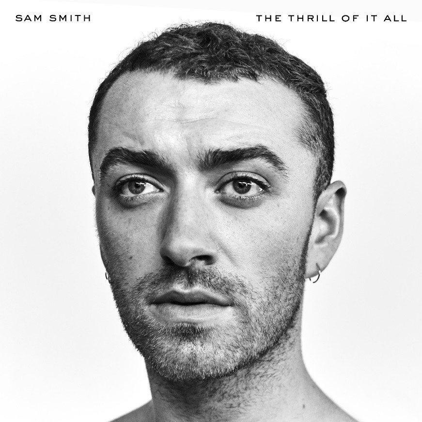 山姆史密斯最新專輯「痛快感受」的封面。美聯社