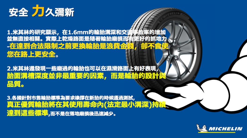 米其林輪胎 提供