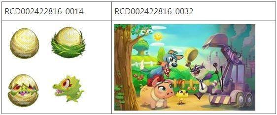 圖3 Farm Heroes Saga遊戲的圖形介面及動畫圖像之設計