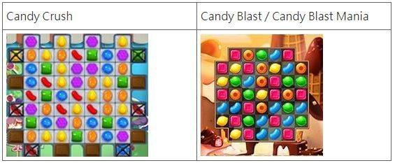 圖7 King的Candy Crush與TeamLava的Candy Blast...