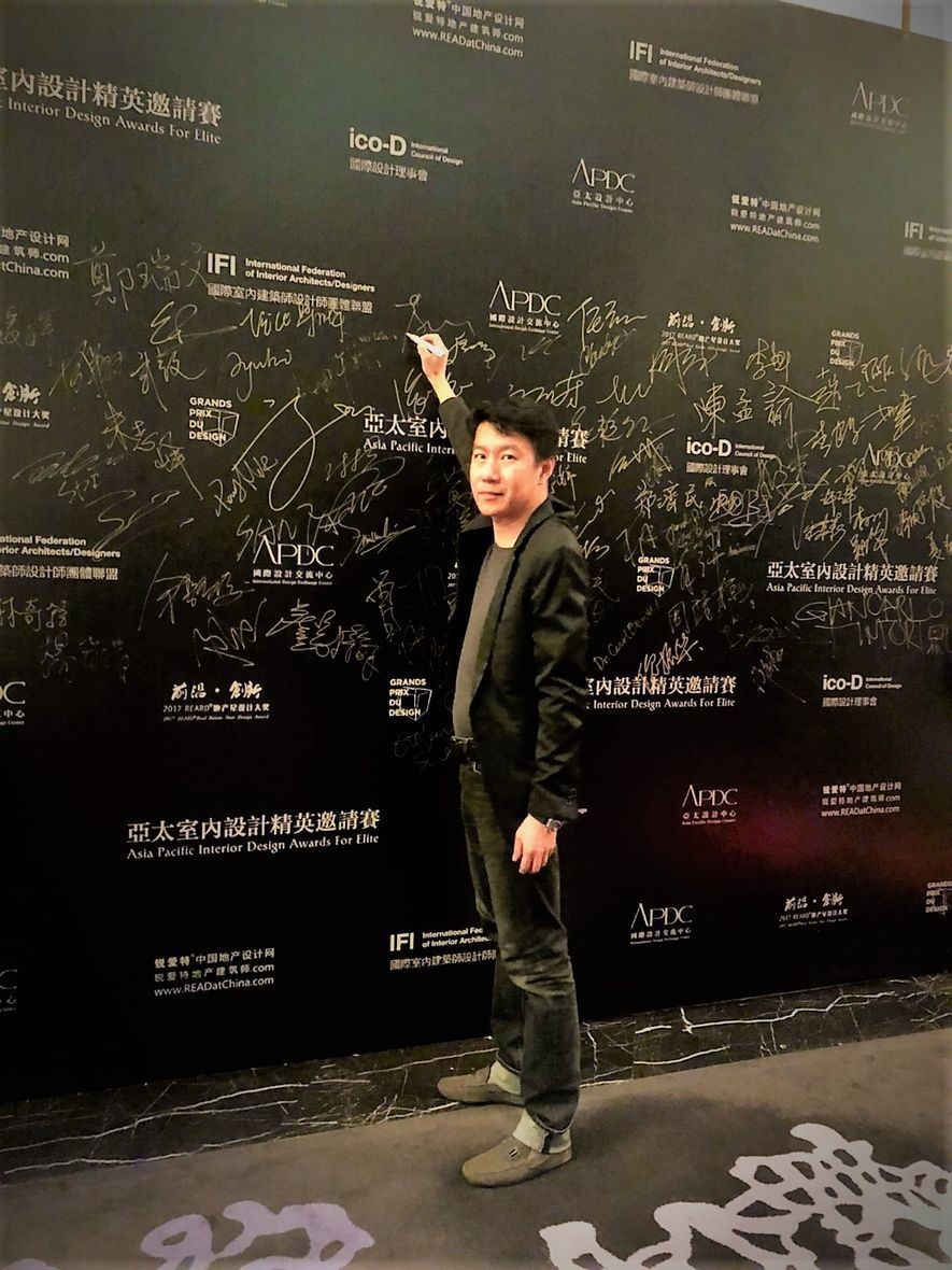 (圖)冠宇和瑞空間設計 王俊智 主持設計師 首次登上亞太室內設計頒獎盛宴