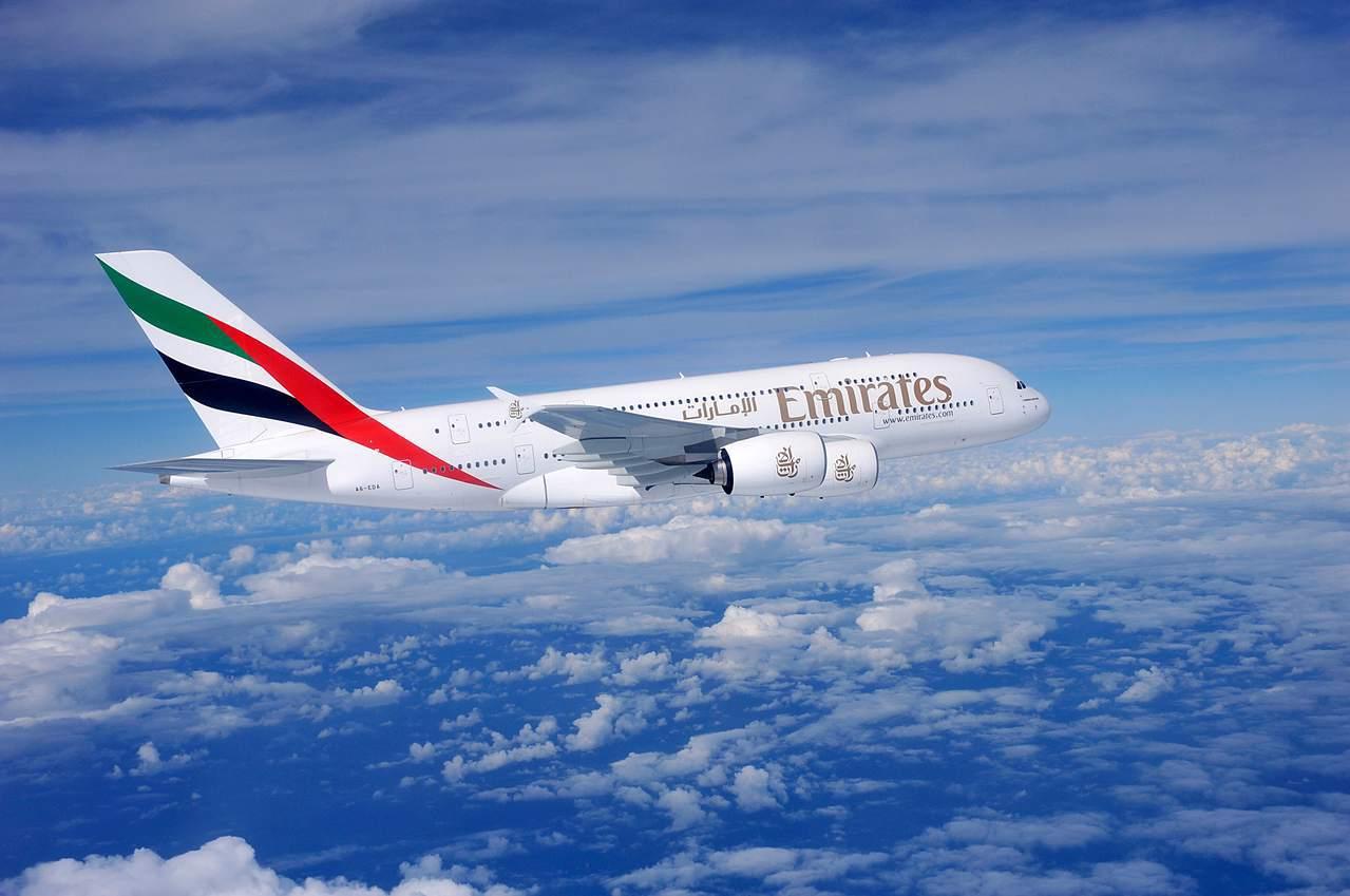 阿聯酋航空推出新型客機A380,於13日進行試飛。示意圖/阿聯酋航空提供。
