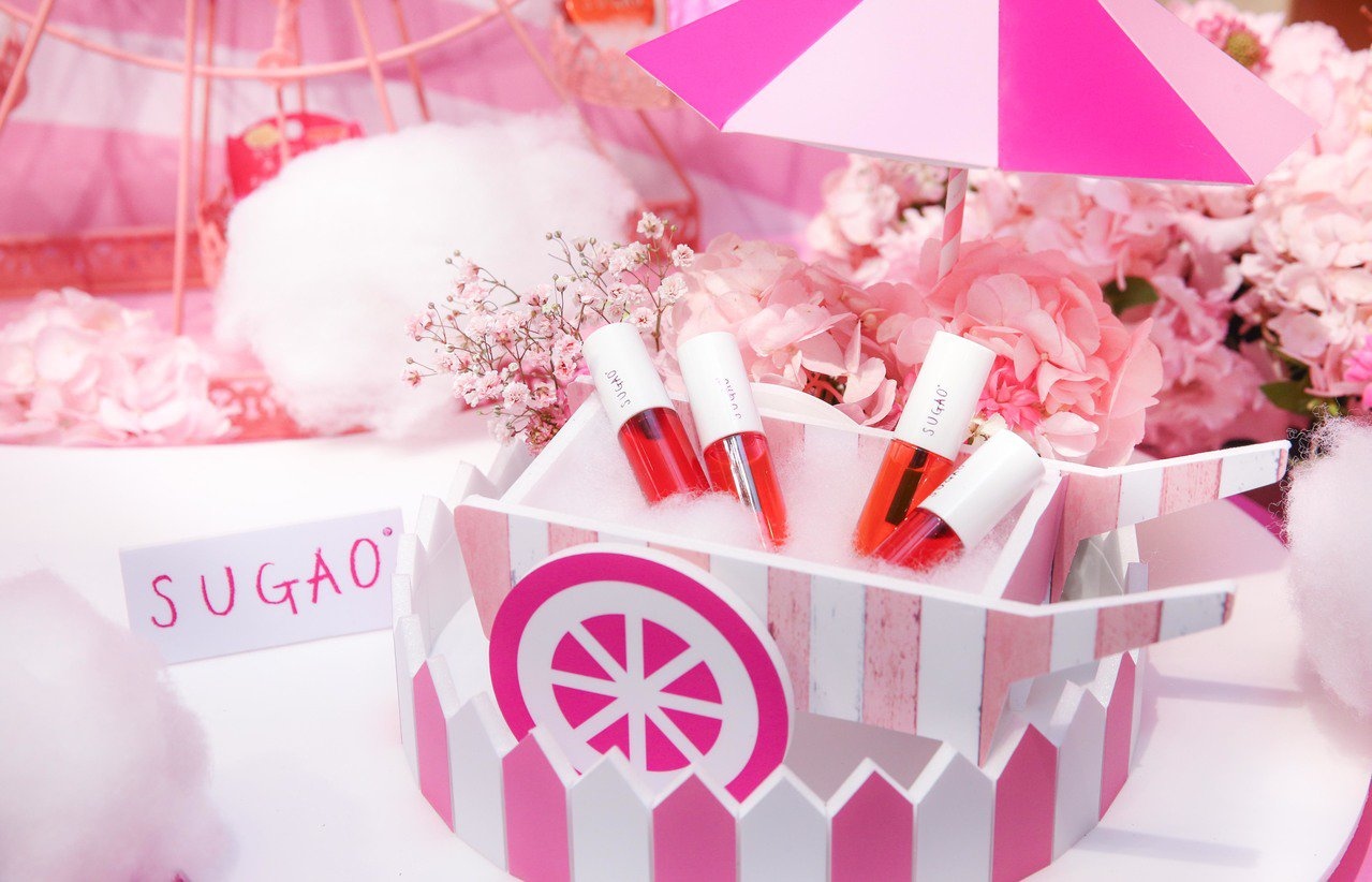 SUGAO甜心裸唇露,售價380元,共3色。圖/SUGAO提供
