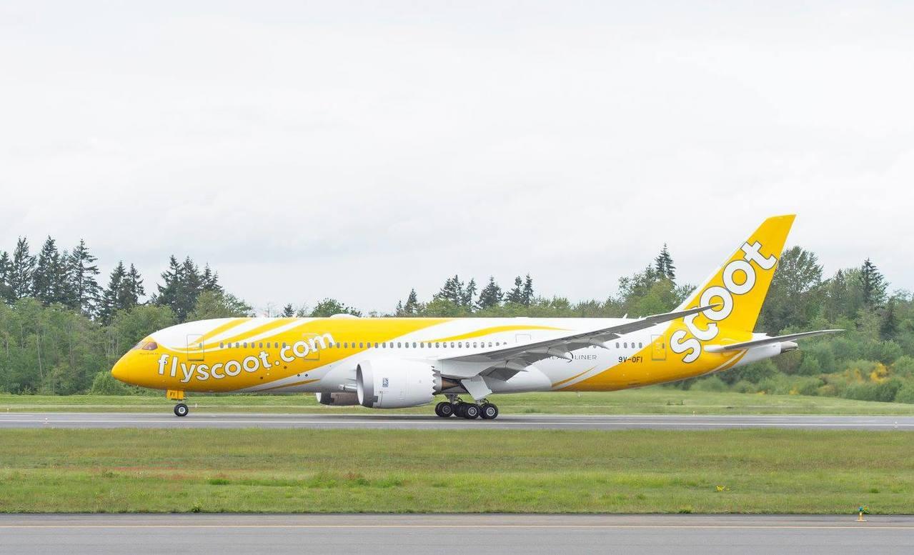 酷航全新 787 夢幻客機~酷莎卡 (Mous-Scoot-ka)。 圖/酷航提...