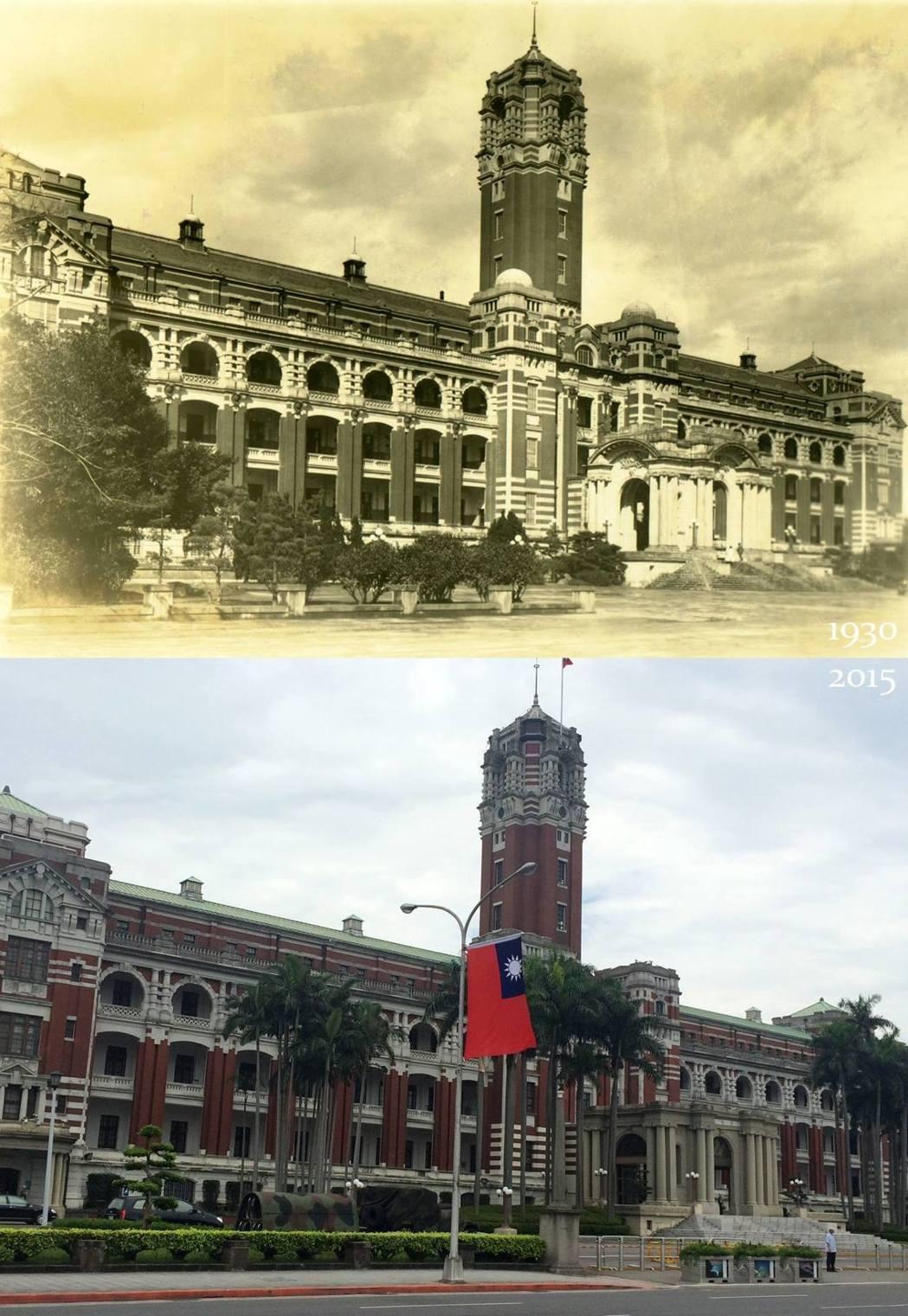 總統府主體平面呈現臥「日」字型,整棟建築佈滿了廊柱、山牆、拱廊及圓拱窗,堪稱日據...