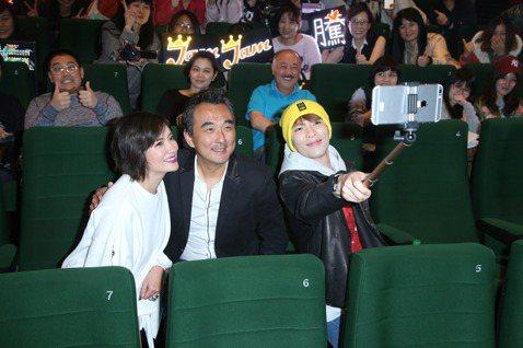 華語「深夜食堂」將在台灣上映,試片會上蕭敬騰、于小惠、蔡岳勳與粉絲互動。