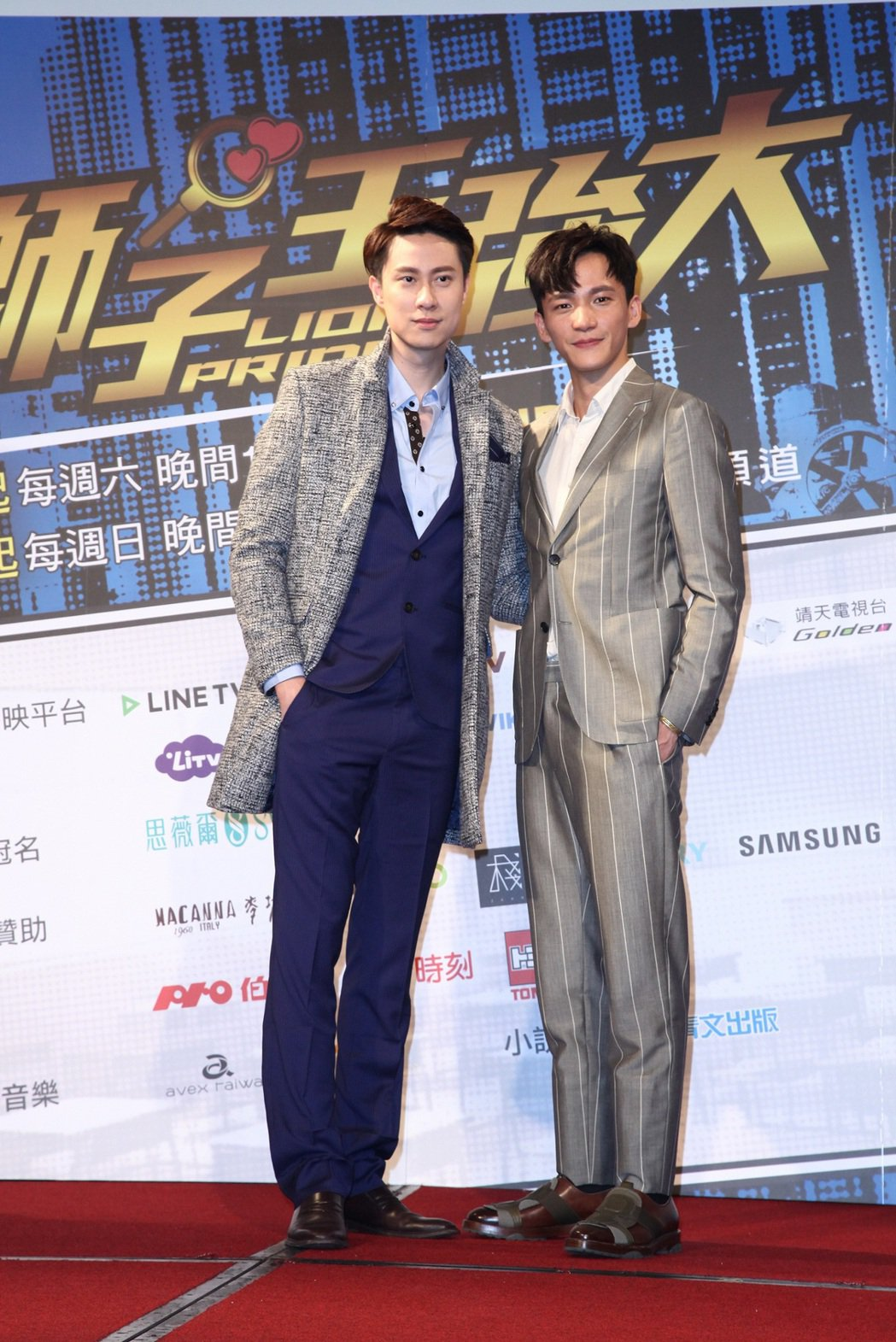 曹晏豪(右)與劉書宏哥兩感情好,被製作人虧差點讓本劇變成「BL」劇。圖/東森提供