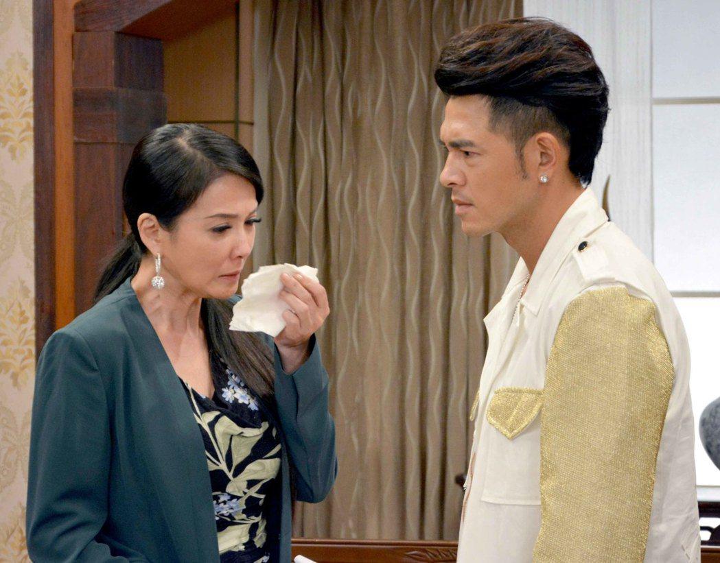 丁國琳、黃玉榮在「春風愛河邊」中飾演母子。圖/華視提供