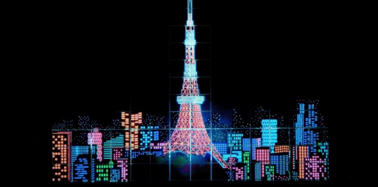 TOKYO PEN PIXEL在光線投影下,十分漂亮。圖/擷取自官網影片