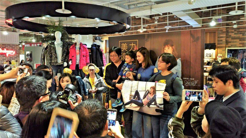 SOGO新竹巨城館4F 牛仔服飾品牌BIG TRAIN,邀請女星安心亞擔任一日店...