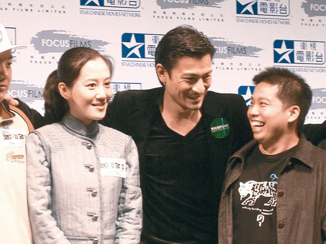 何宇恆(右)與「人魚朵朵」導演李芸嬋(左)都曾是劉德華力捧新秀。圖/本報資料照片
