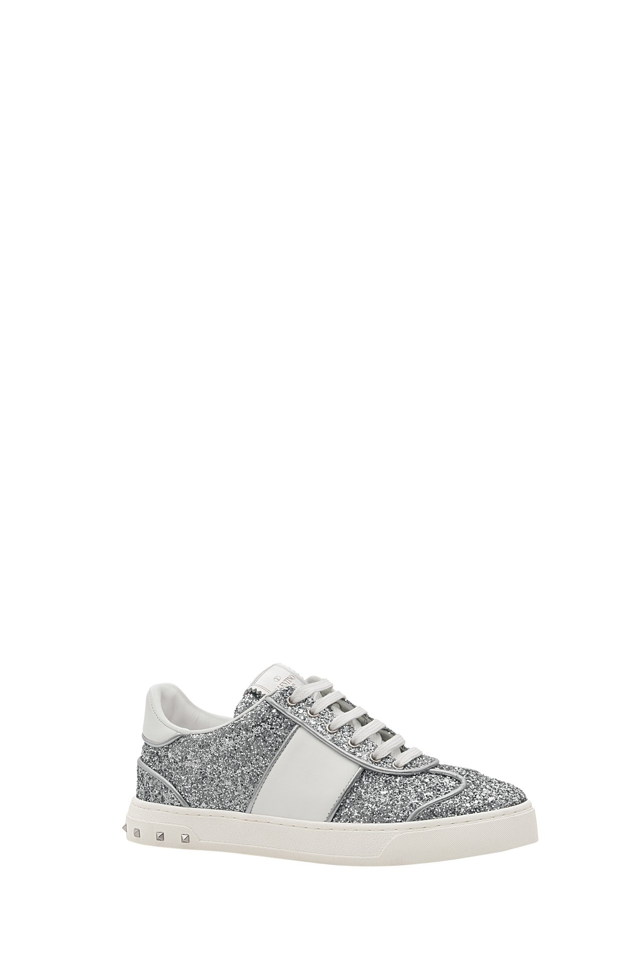 Valentino Garavani銀色亮粉運動鞋,22,400元。圖/Vale...