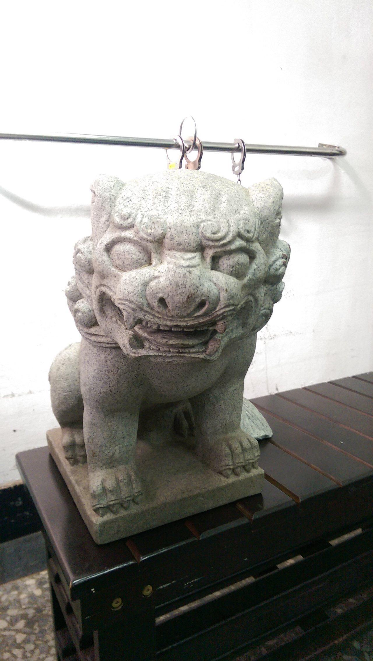 石獅找回來。記者劉星君/翻攝