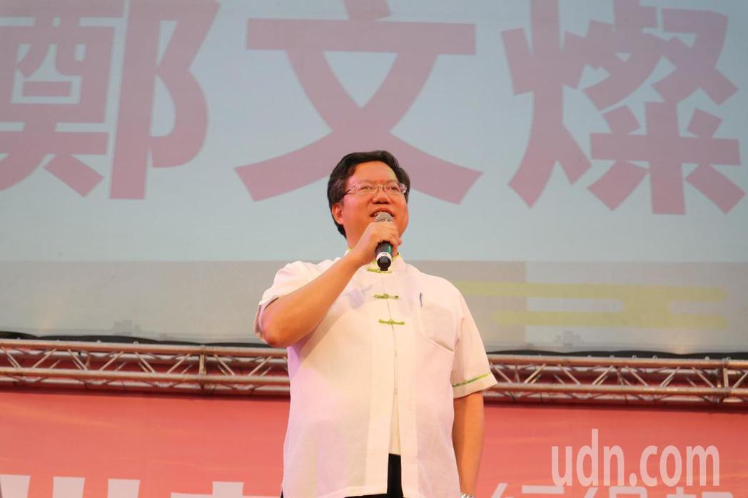 自己也忙於選舉的桃園市長鄭文燦,基於過去與劉世芳共事的情誼,特地南下為劉站台。記...