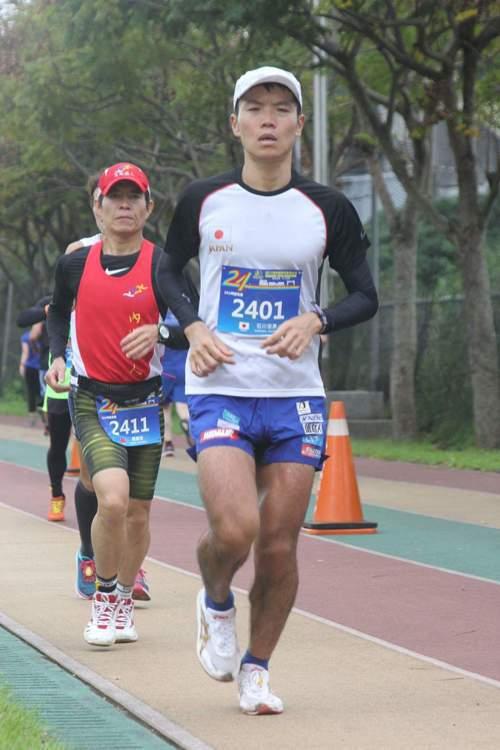 石川佳彥。 東吳馬拉松提供