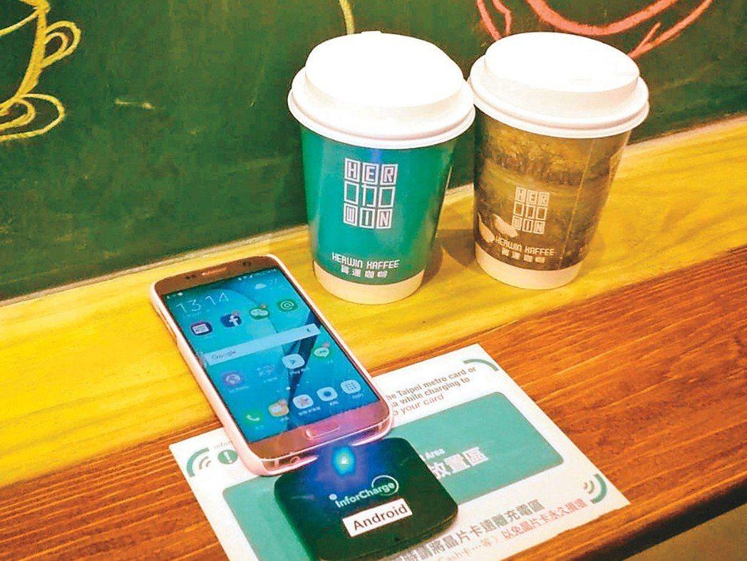 禾力科技鎖定無線充電技術,並將無線充電產品鋪設至餐廳、咖啡廳中。 禾力╱提供