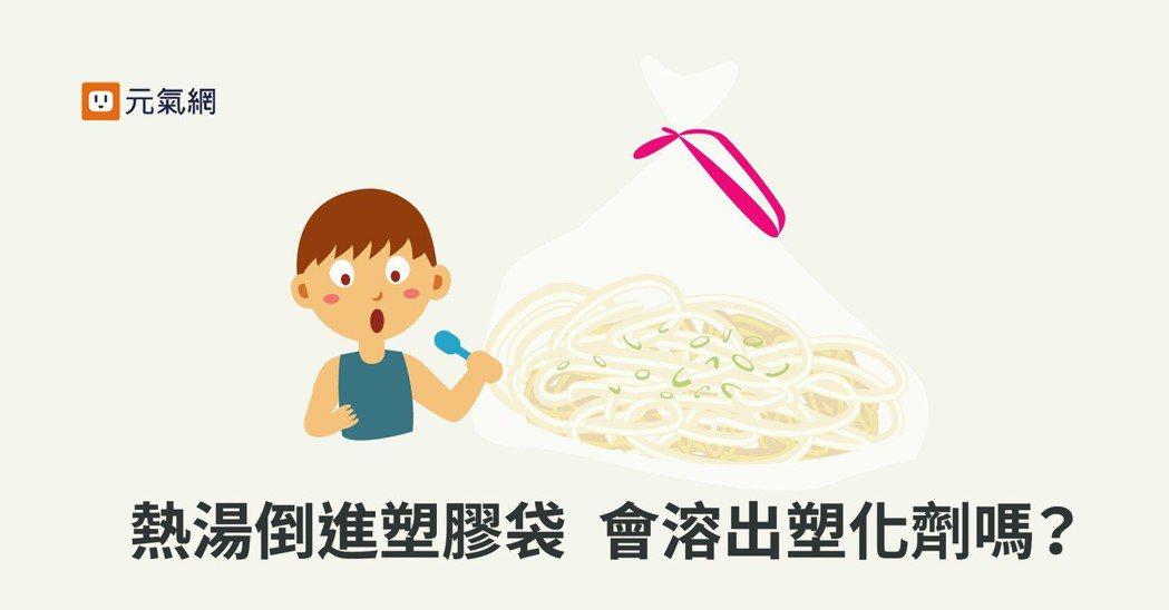 熱湯倒進塑膠袋 會溶出塑化劑嗎? 製圖/黃琬淑