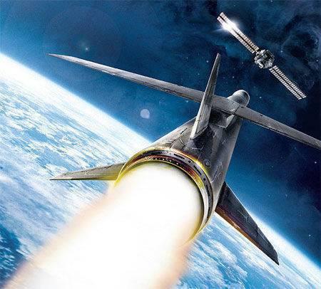 反衛星太空武器想像圖。 圖/取自網路