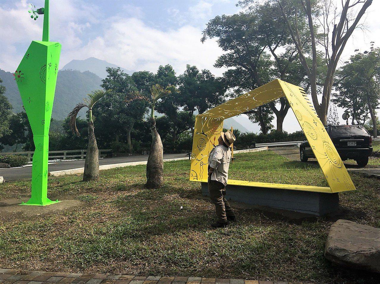 伊誕.巴瓦瓦隆的作品「斜坡上的風很香」。圖/原文發中心提供