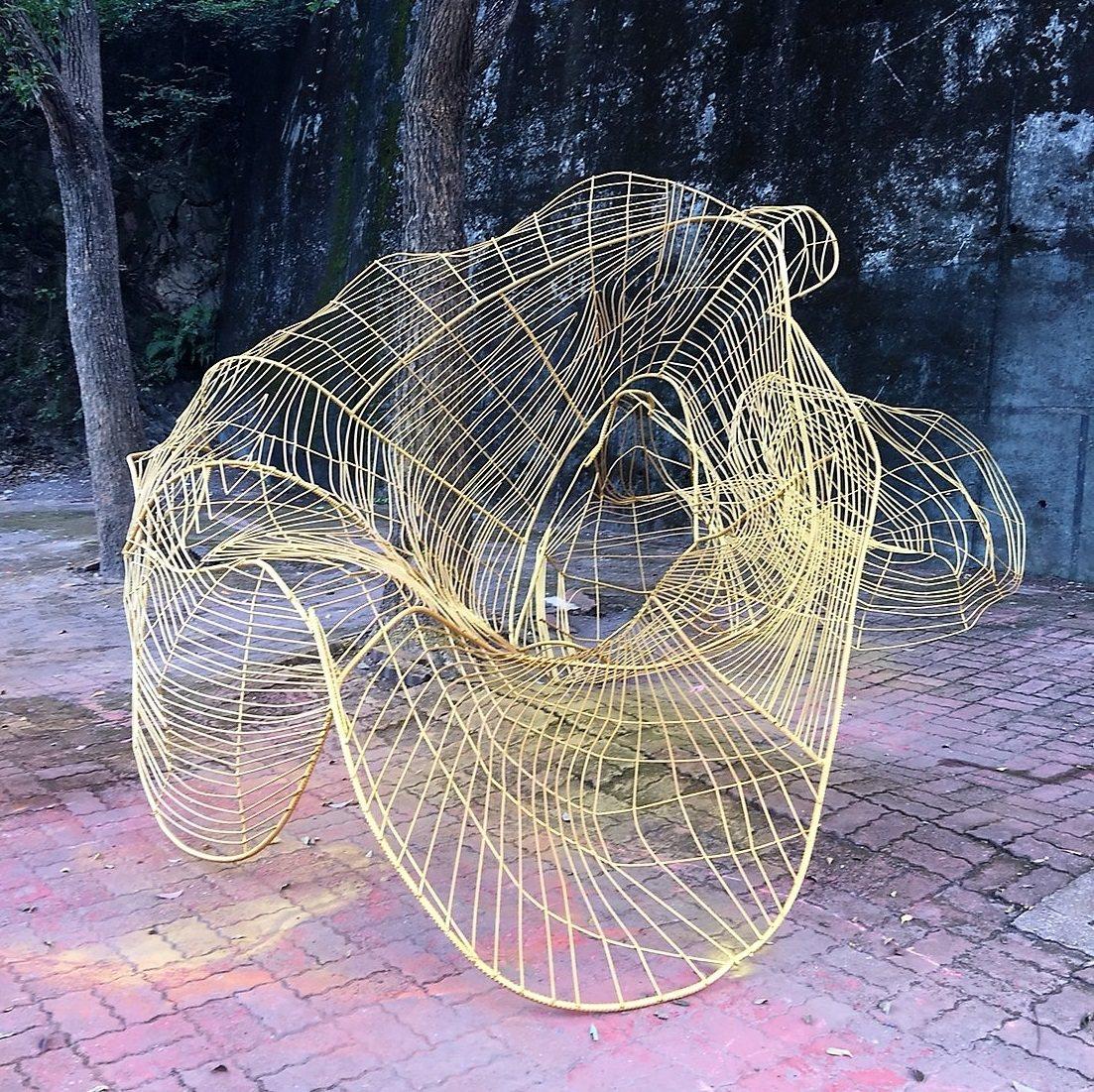 林文介的作品「金色生命-三」。圖/原文發中心提供