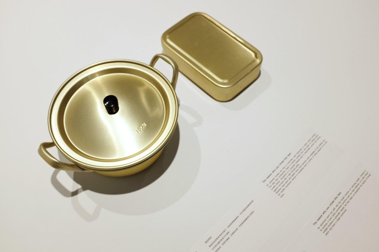 韓國鋁製便當盒。記者沈佩臻/攝影