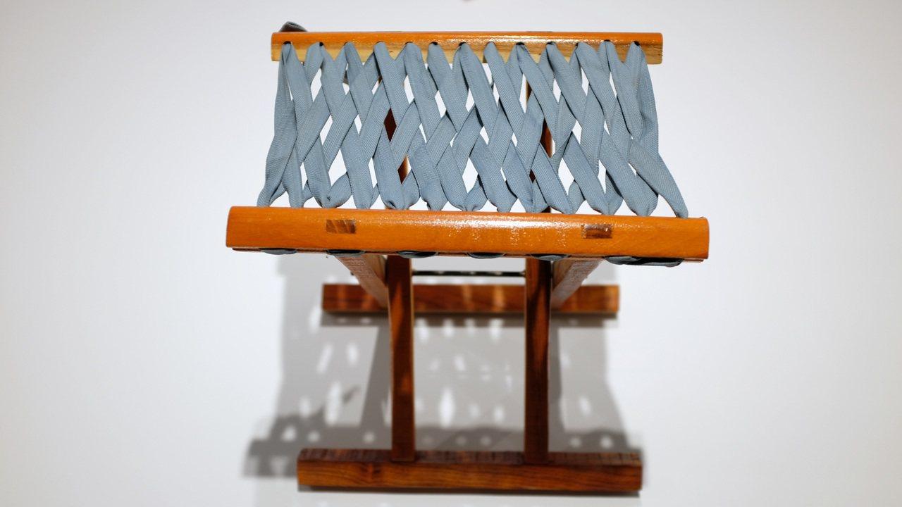 由上海無印良品夥伴推薦的折疊椅。記者沈佩臻/攝影