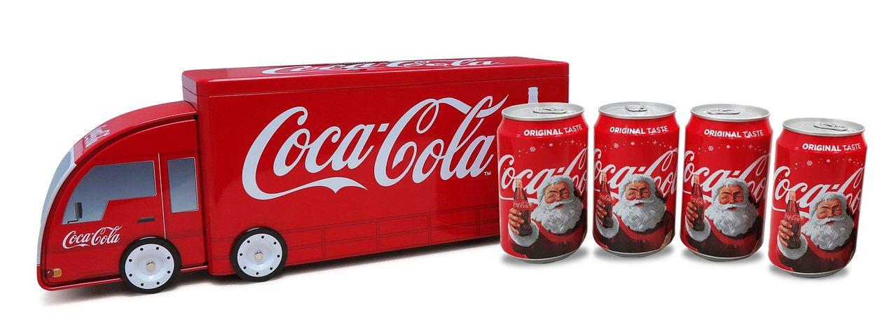 貨車造型禮物盒。圖/可口可樂提供