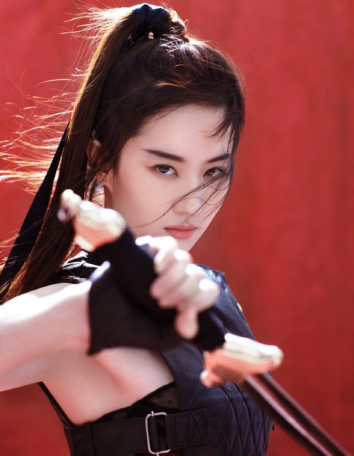 劉亦菲即將演出花木蘭真人版女主角。圖/摘自微博