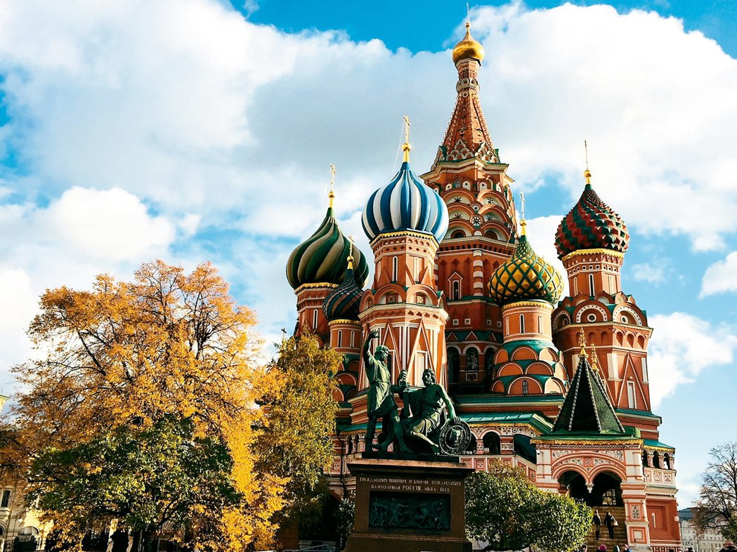 莫斯科的地標,暱稱為洋蔥頭的聖瓦西里大教堂。 記者錢欽青/攝影