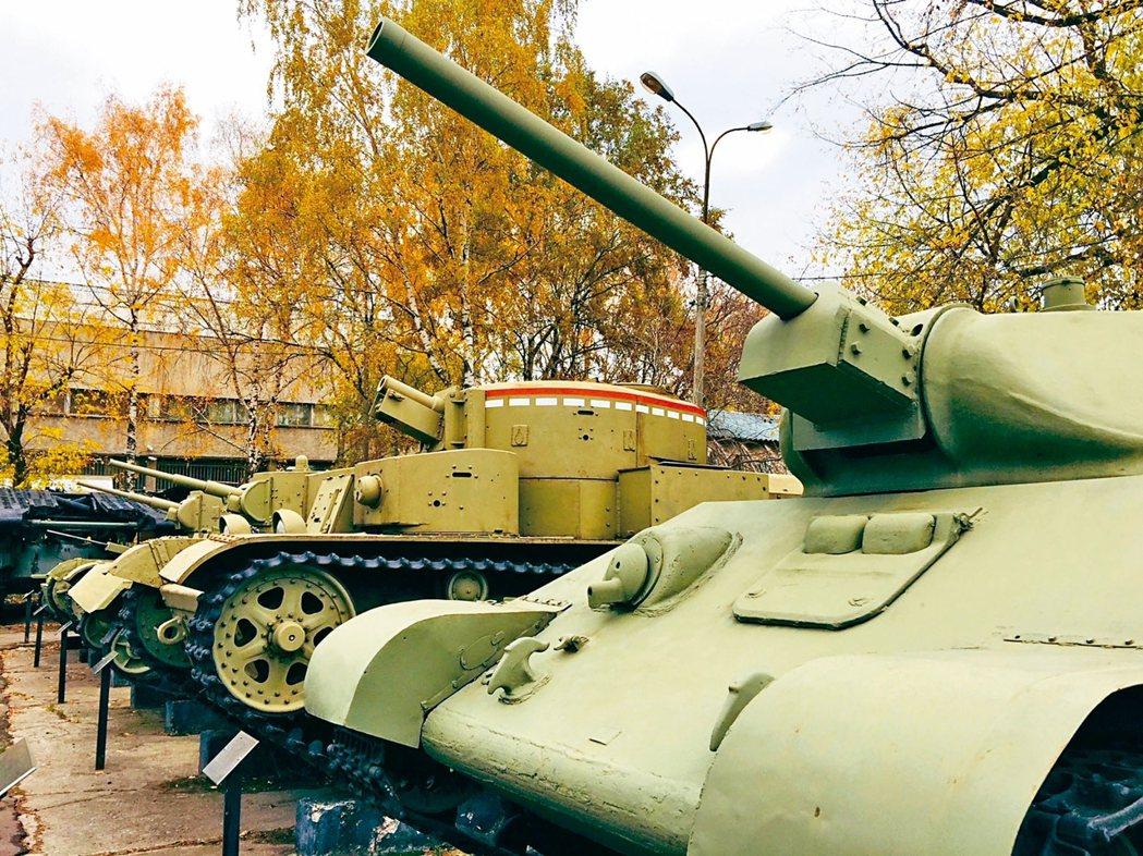 「中央武裝部隊博物館」展示近代蘇聯的各種武器。 記者錢欽青/攝影