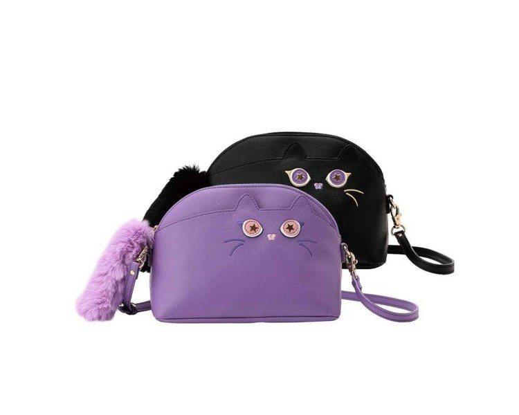 莉莉貓斜背長夾,4,280元。圖/ANNA SUI提供