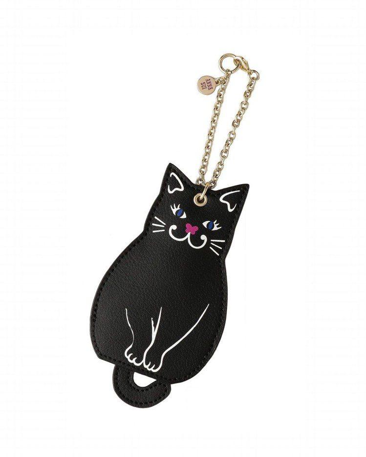 黑貓鑰匙吊串,2,980元。圖/ANNA SUI提供