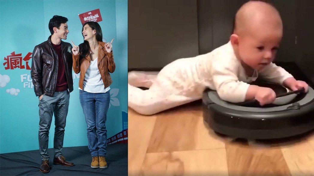 Janet分享寶寶影片讓網友直呼「超可愛」。圖/擷自Janet臉書