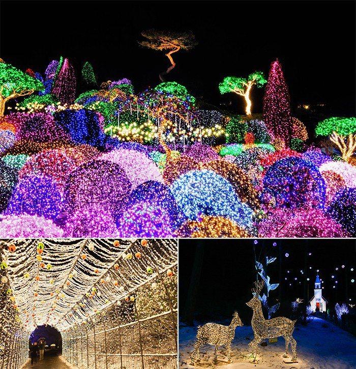 晨靜樹木園五色星光庭園展可以充分展現韓國庭園之美。圖/摘自韓國觀光公社官網