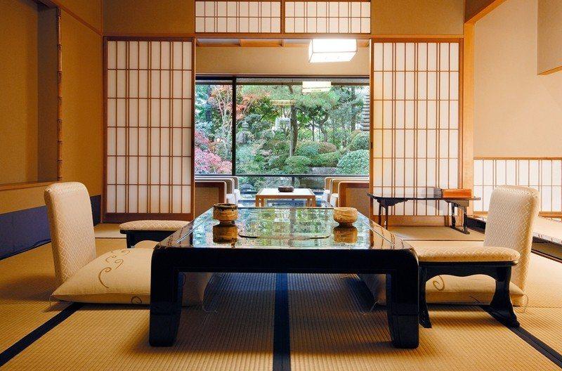 特別客室「山水閣」內有專屬日式庭園。