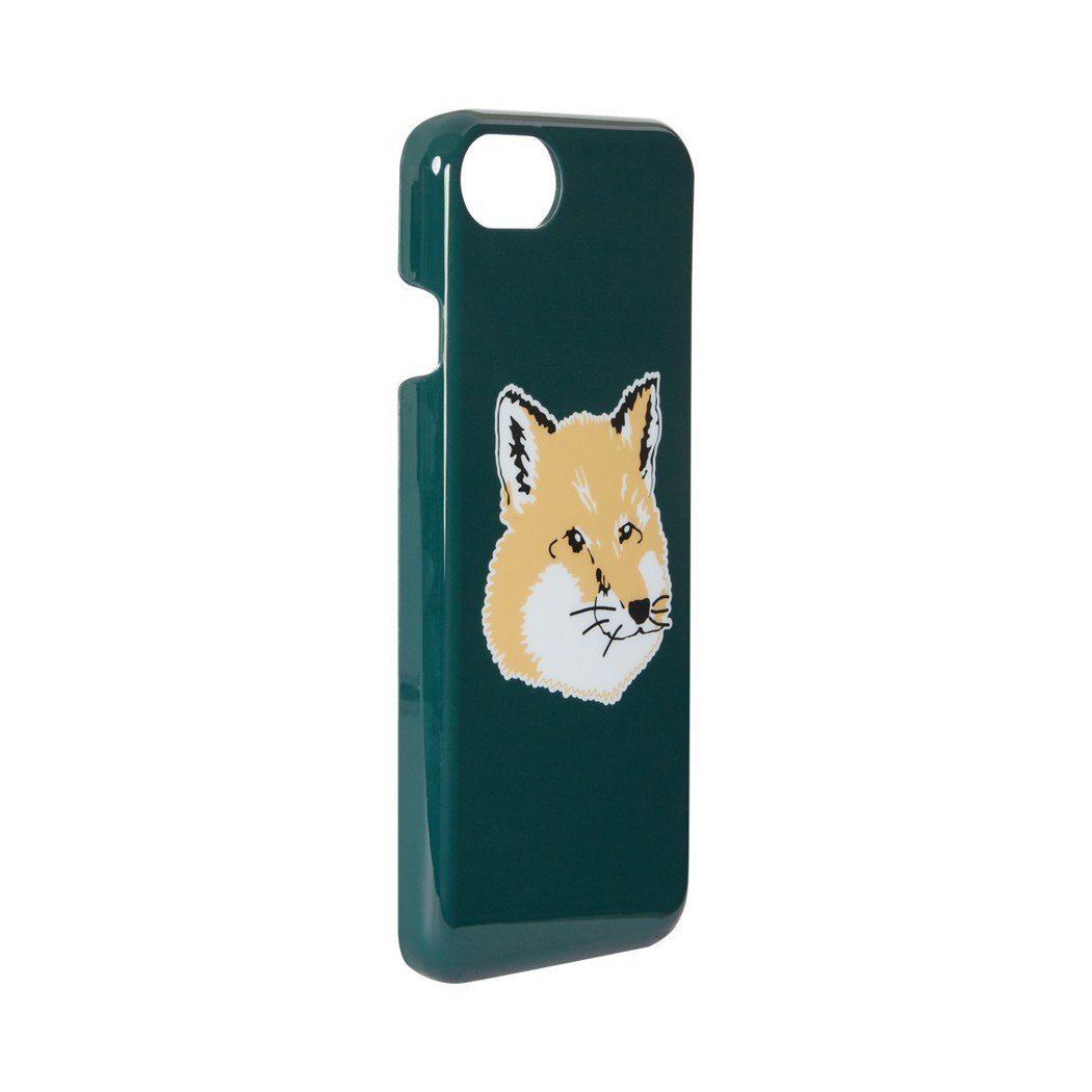 Maison Kitsune卡其綠狐狸手機殼,1,500元。圖/團團精品提供