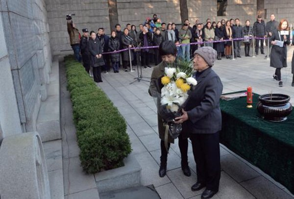 南京大屠殺死難者家庭祭告活動,昨日在南京舉行。南京晨報