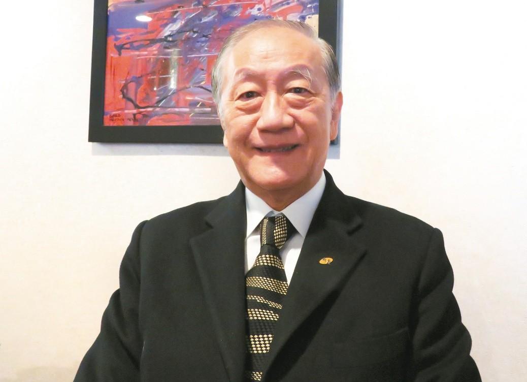 新黨主席郁慕明。 聯合報系資料照片