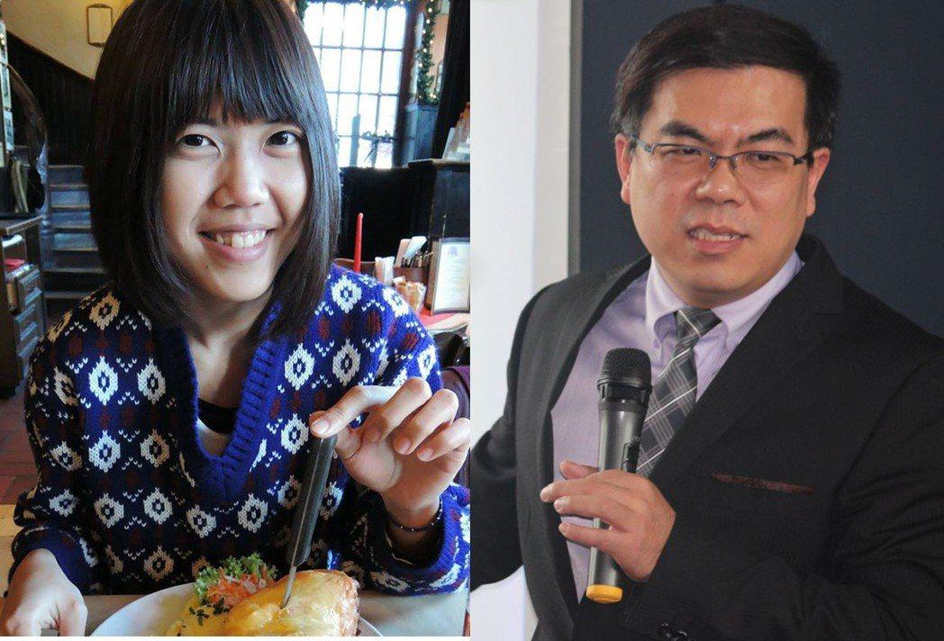 圖為台灣青年氣候聯盟成員王香尹(左)與氣象達人彭啟明(右)將在今晚直播開講。擷自...