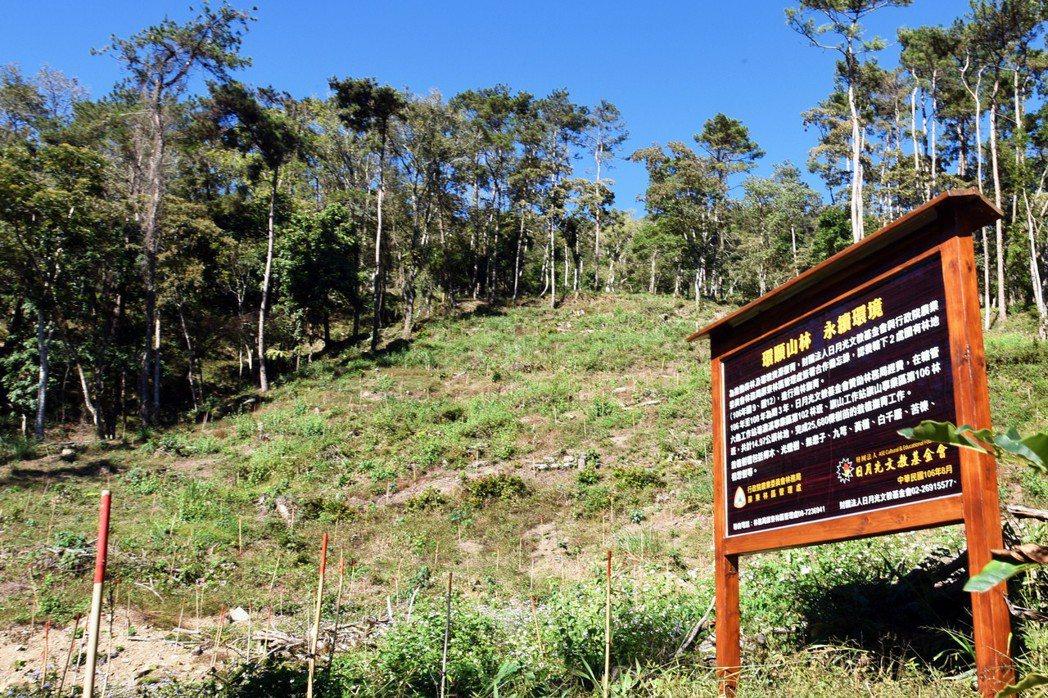 為推動森林及環境資源復育,財團法人日月光文教基金會今年起為期三年,贊助林務局經費...