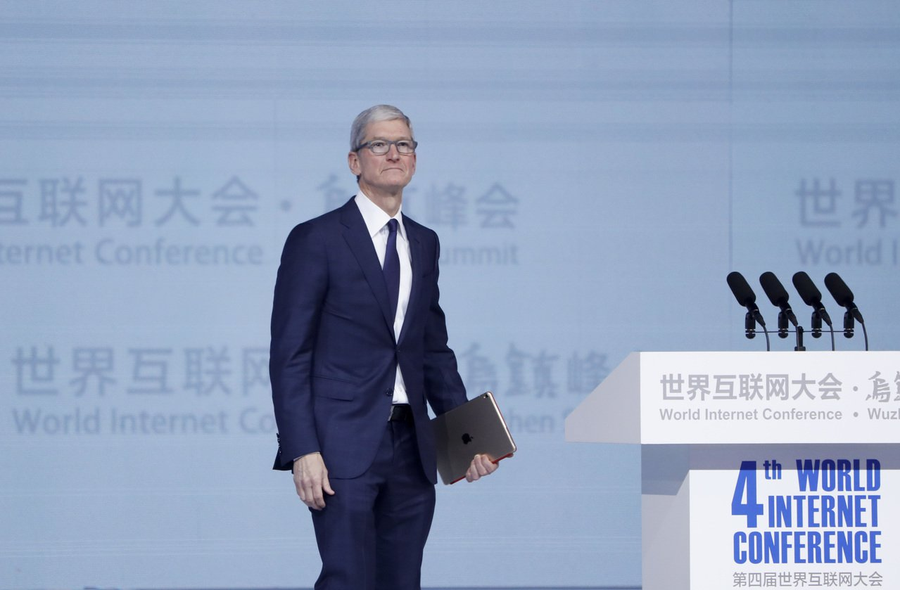 蘋果公司首席執行官庫克。 中新社