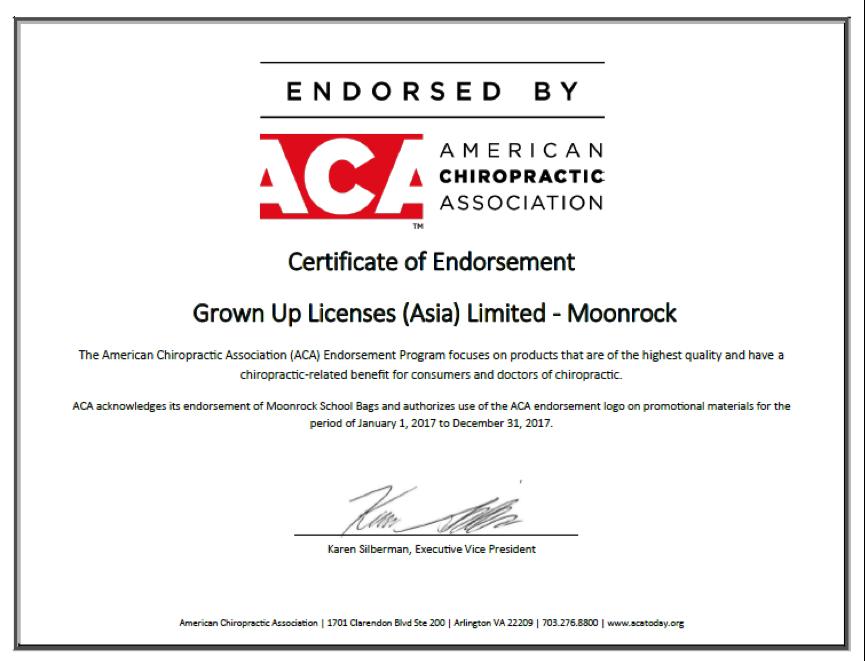 「MoonRock 夢樂」是全球首個獲得美國脊骨神經科學會認證的護脊書包。 業者...