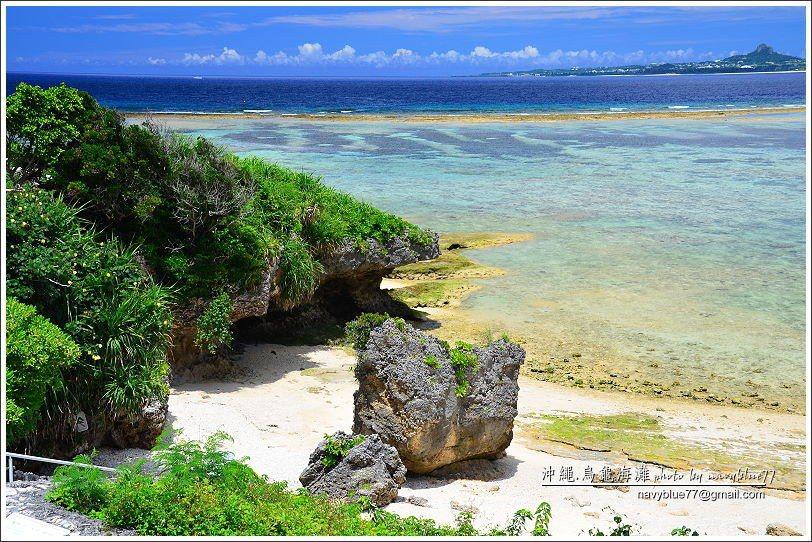 ↑布魯猜測烏龜海濱的名字是來自這塊像烏龜的岩石。
