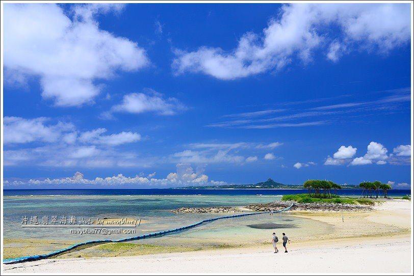 ↑7月初的這天接近中午時分,剛好遇到退潮,整個海灘變得清清淺淺,但海景仍然迷人。