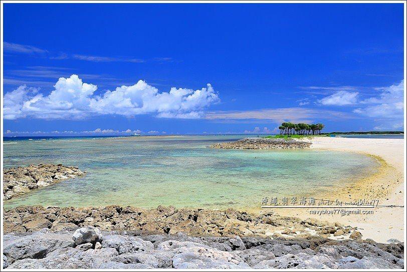 ↑整個翡翠海灘最西邊是眺望海濱,果然眺望沖繩西北海域超級美麗。