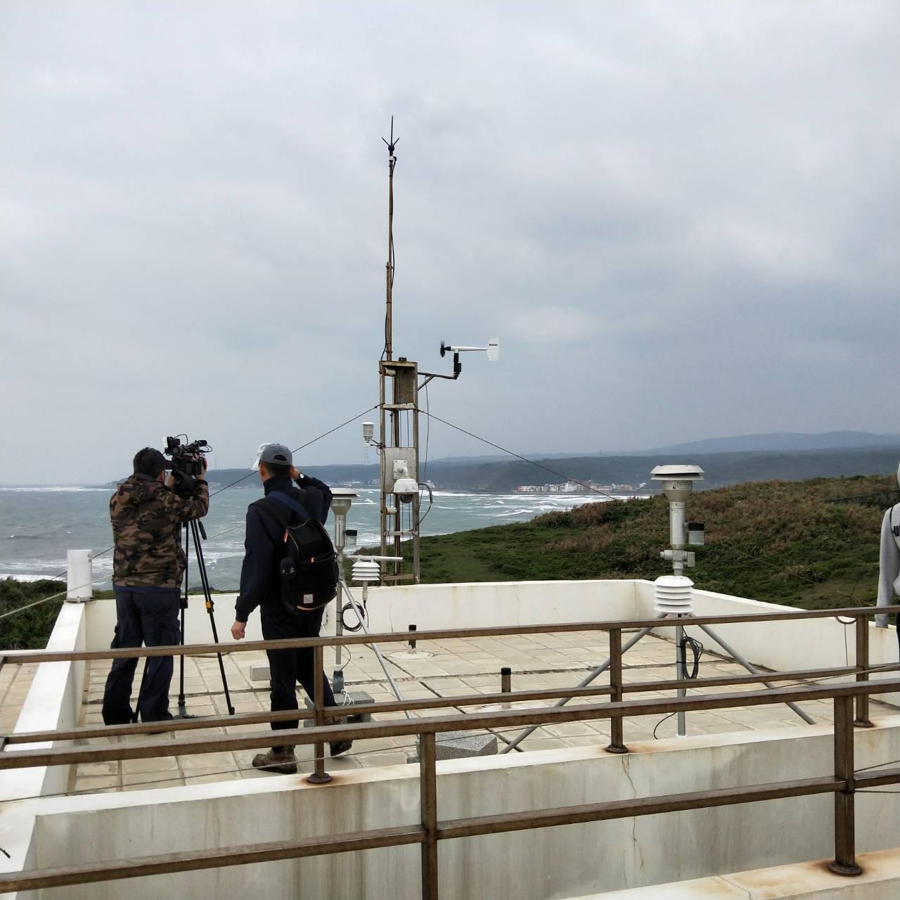 環保署在台灣本島最北端建置富貴角空氣品質背景測站。記者游明煌/攝影