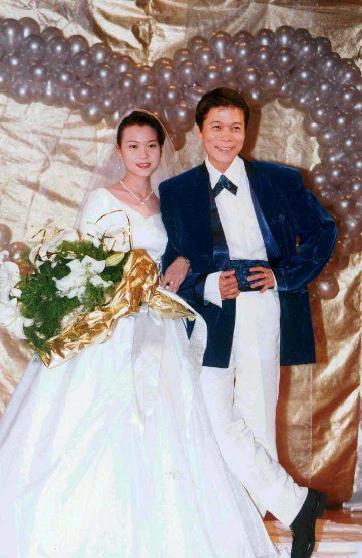洪榮宏與第一任妻子蔣秀美。圖/聯合報系資料照