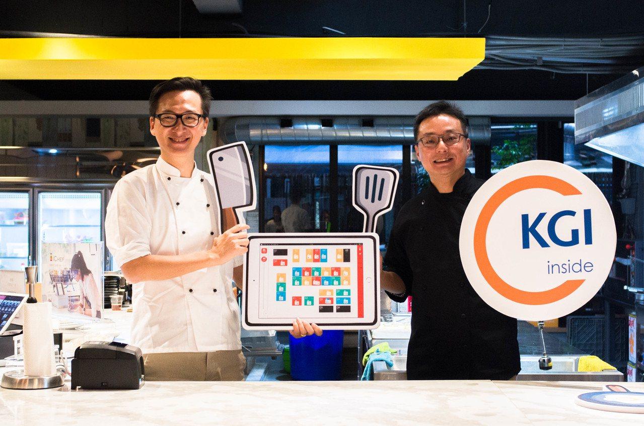 iCHEF共同創辦人程開佑Ken(左)、凱基銀行創新科技金融處資深副總經理周郭傑...