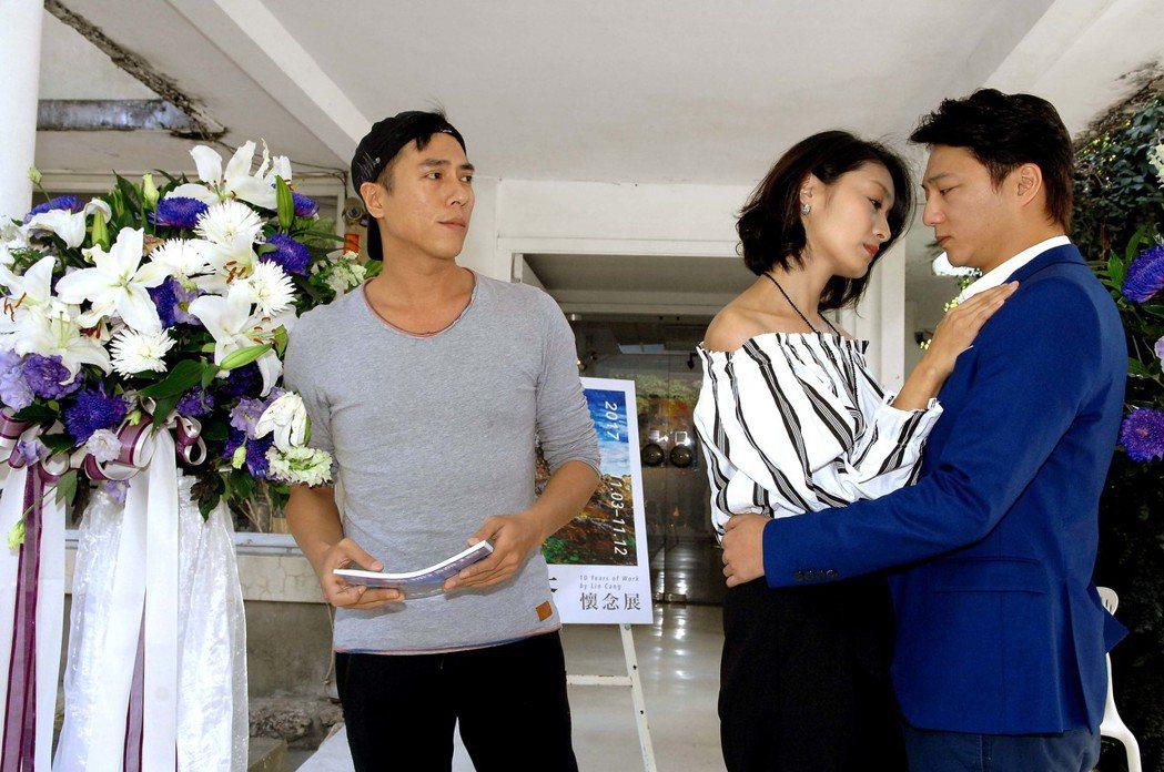 莊凱勛(左起)、柯奐如、藍葦華演出「紅塵梵谷」。圖/華視提供
